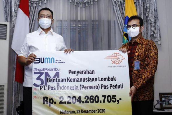 pos-indonesia-serahkan-bantuan-peduli-lombok