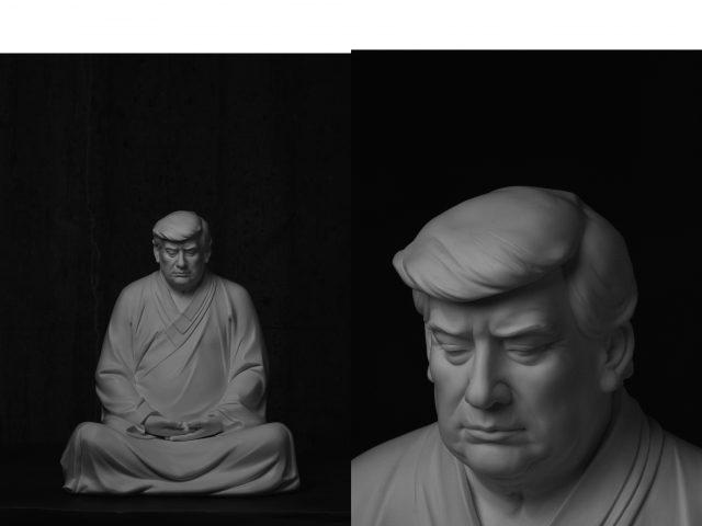 seniman-di-tiongkok-bikin-patung-buddha-berwajah-donald-trump